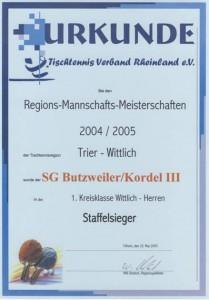 Meister 1. Kreisklasse 04/05