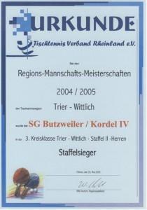 Meister 3. Kreisklasse 04/05
